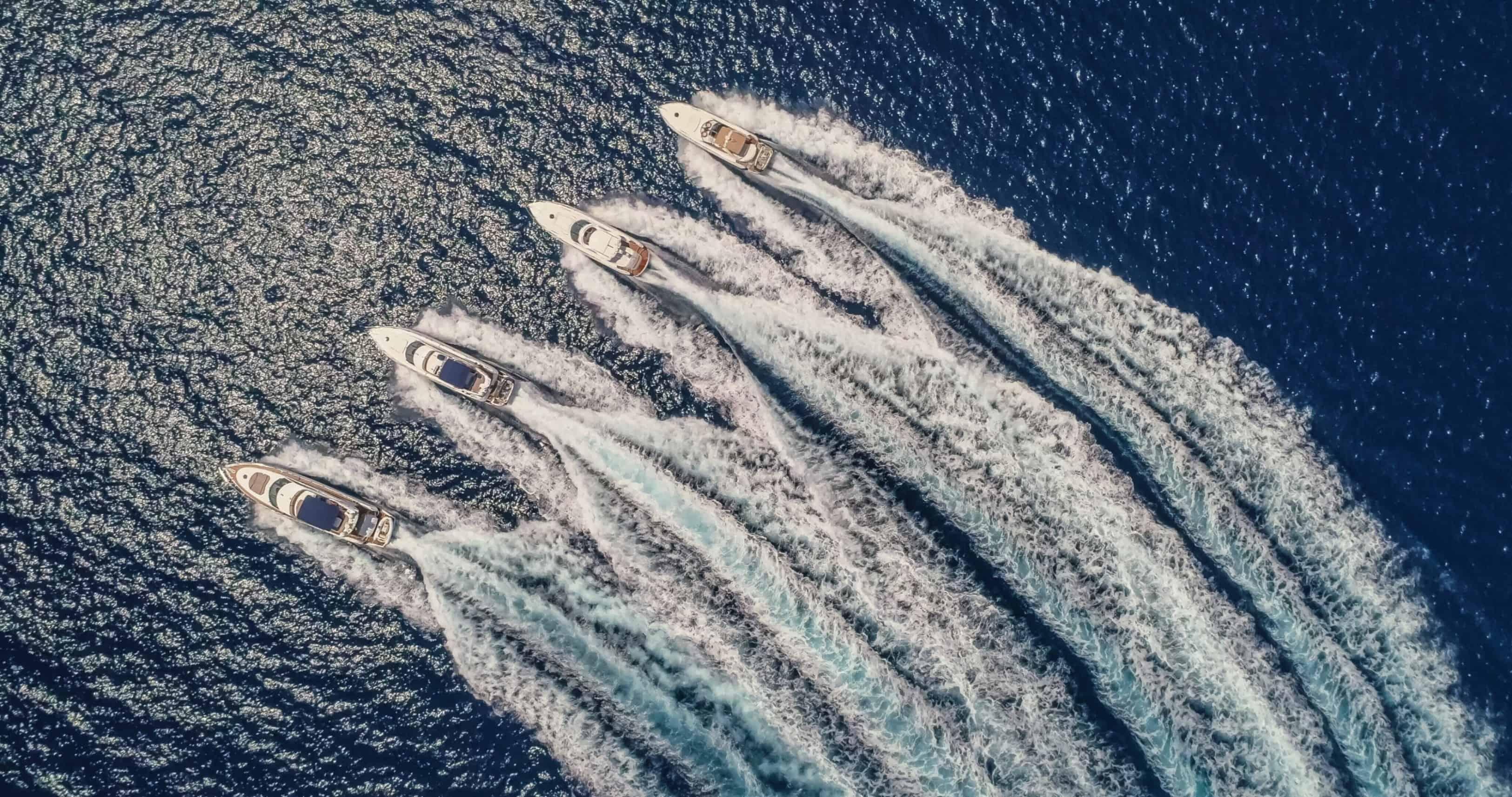 Aerial Shot of Yachts