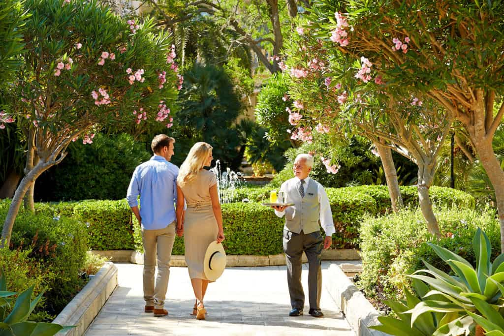 Healthy Holidays, CORINTHIA MALTA COUPLE WALKING