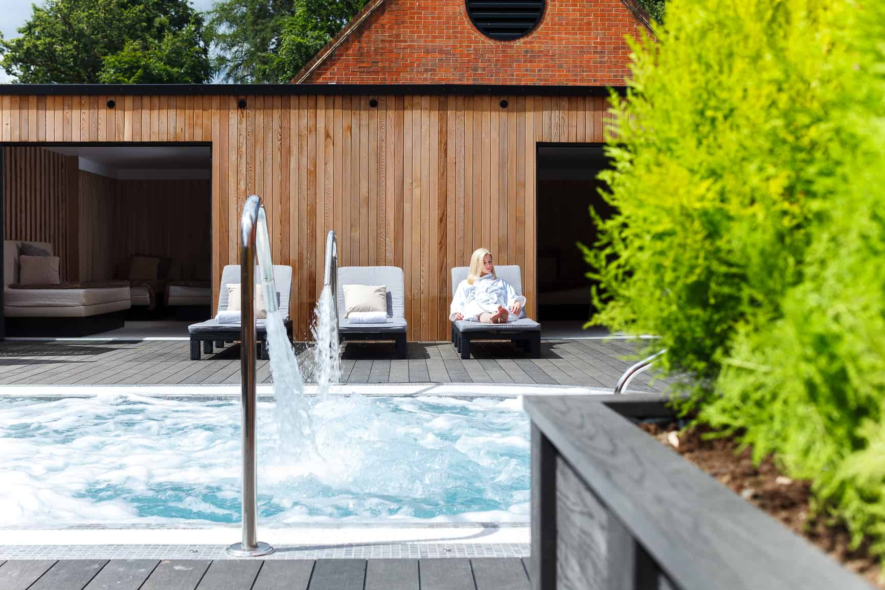 Champneys Spa Outside Pool Relax