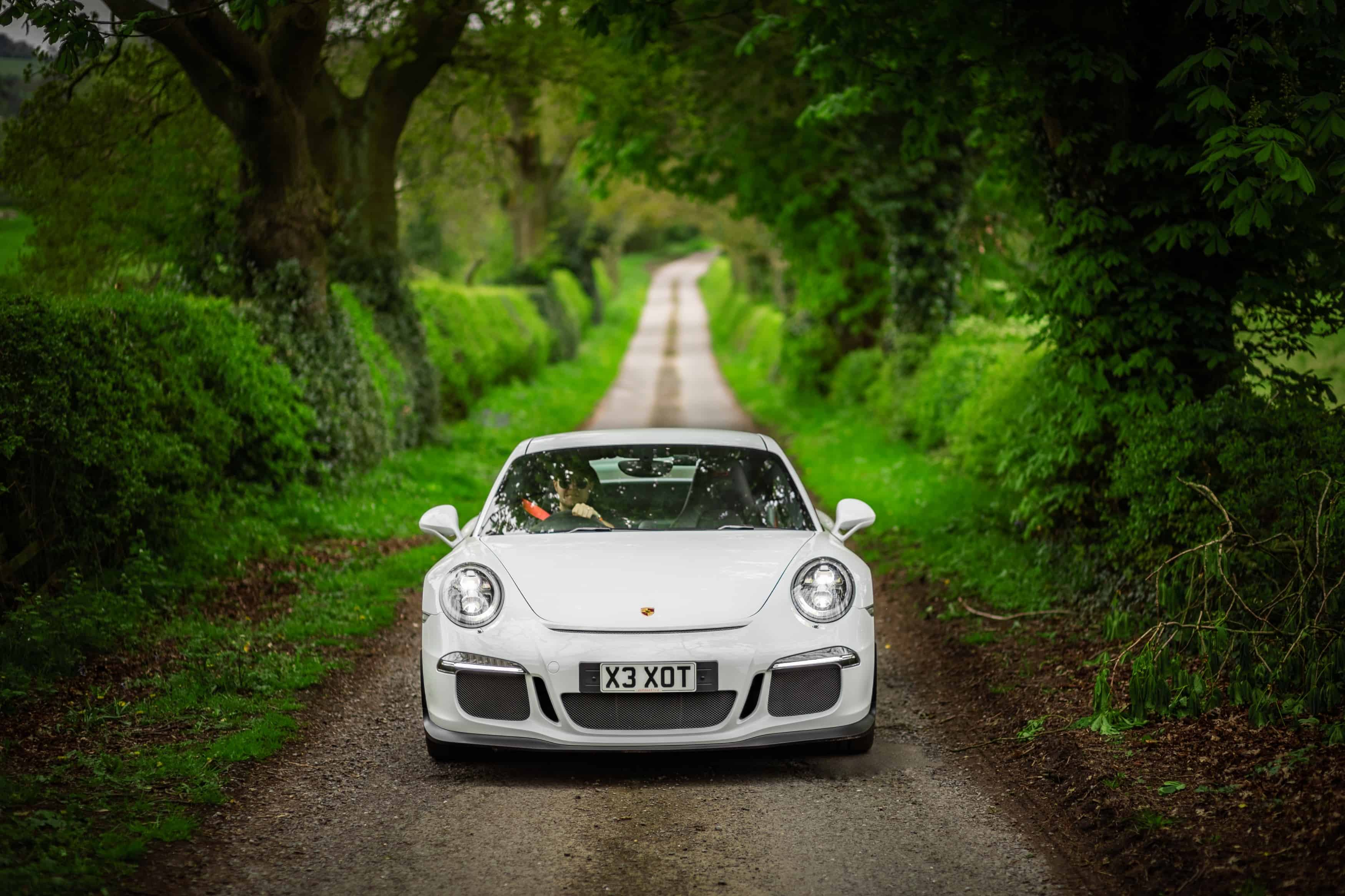 Porsche Driving in Woods