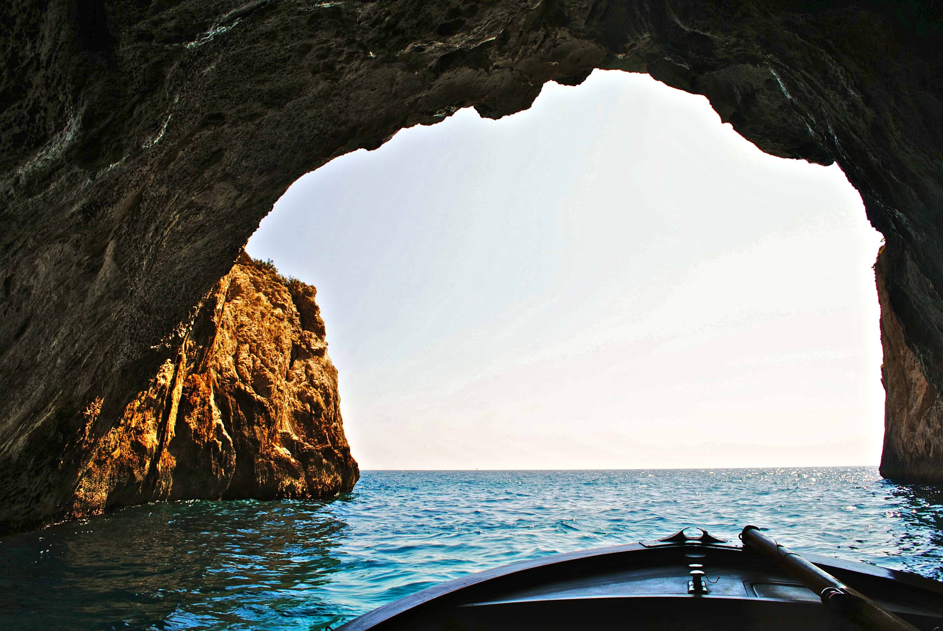 Yachting through Caves
