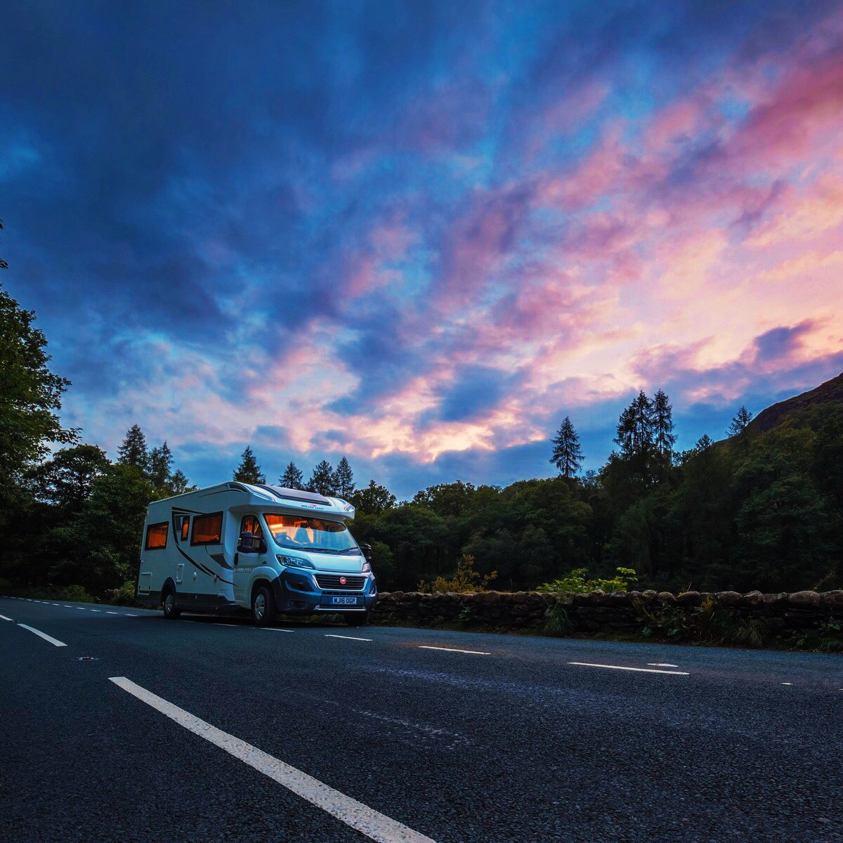 Motorhome with Sunset