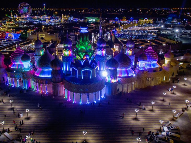 Global Village Dubai Aerial View