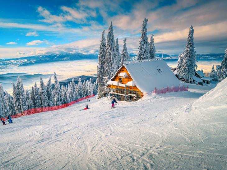 Skiing Transylvania